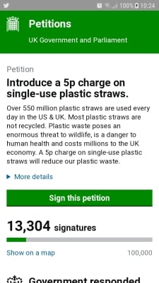 Plastic straw tax, lip service?